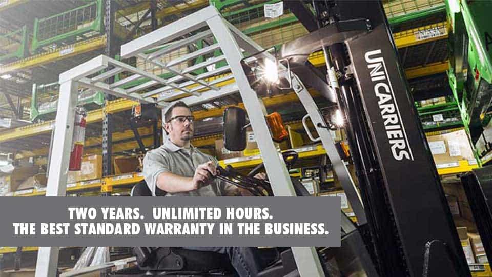 Nissan Unicarriers two year best forklift warranty