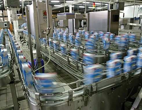 food and beverage packaging facility