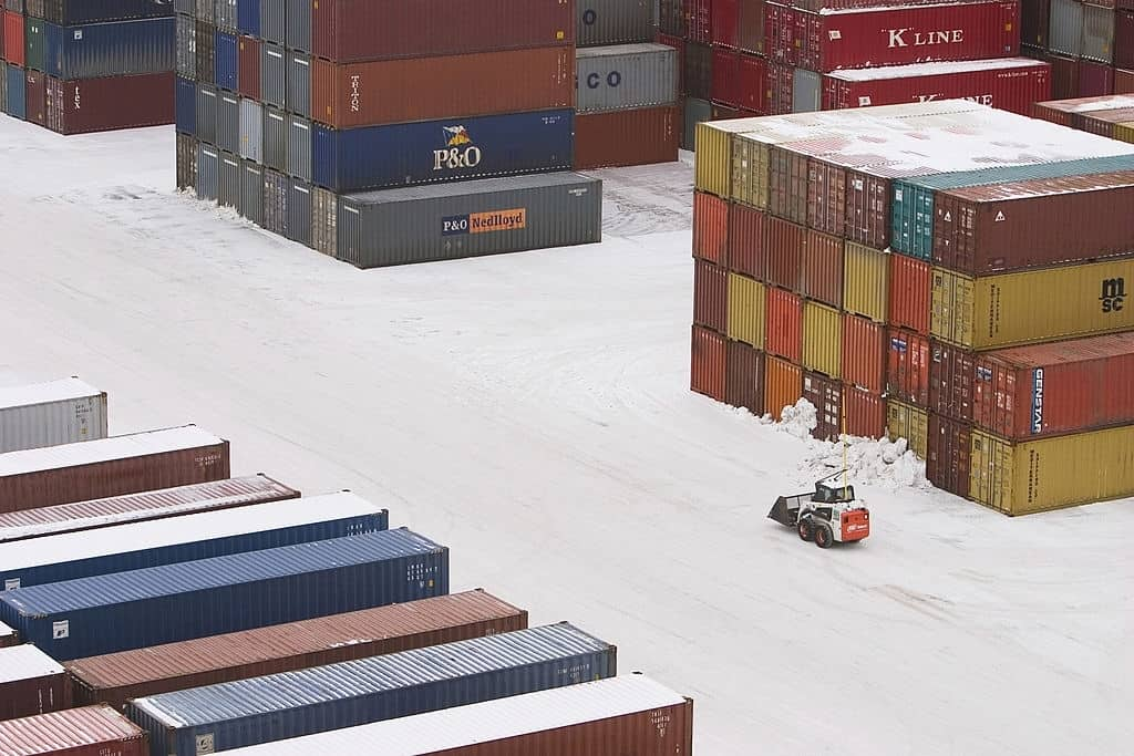 forklifts must reduce speed in snow and ice