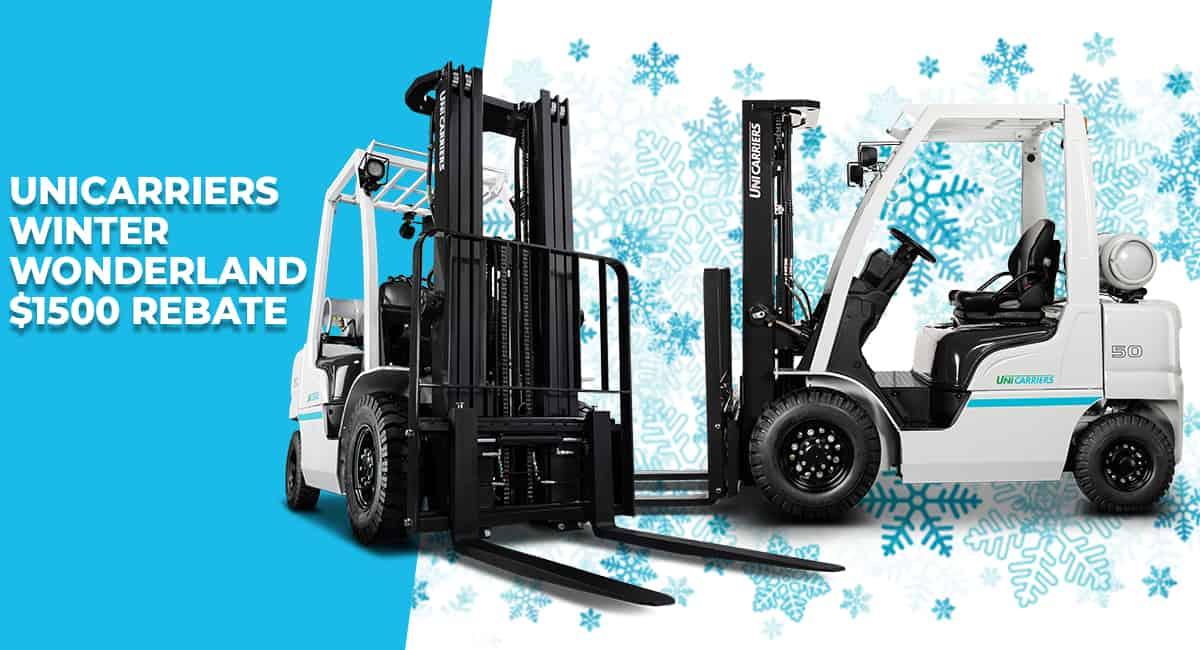UniCarriers Forklift Winter Wonderland $1500 Rebate